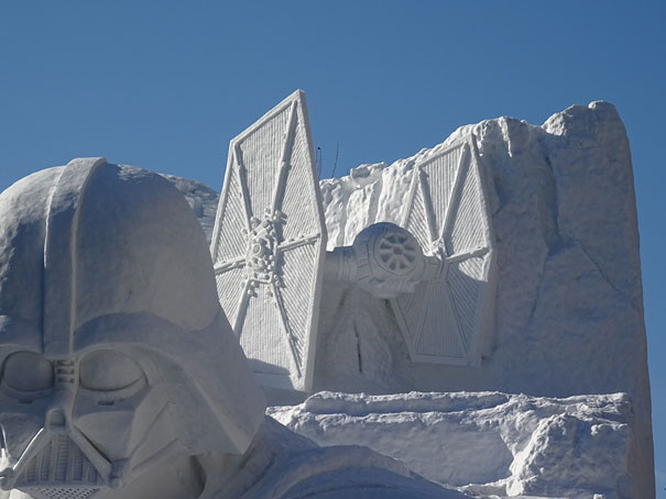 Sculture de neige - Star wars  (1)