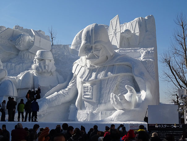 Sculture de neige - Star wars  (10)