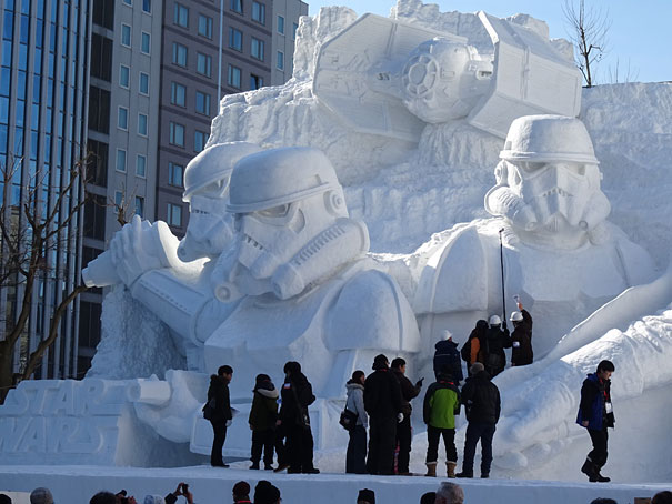 Sculture de neige - Star wars  (11)