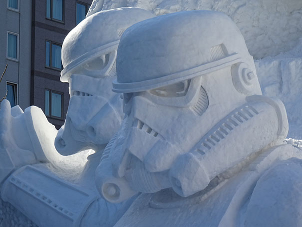 Sculture de neige - Star wars  (12)