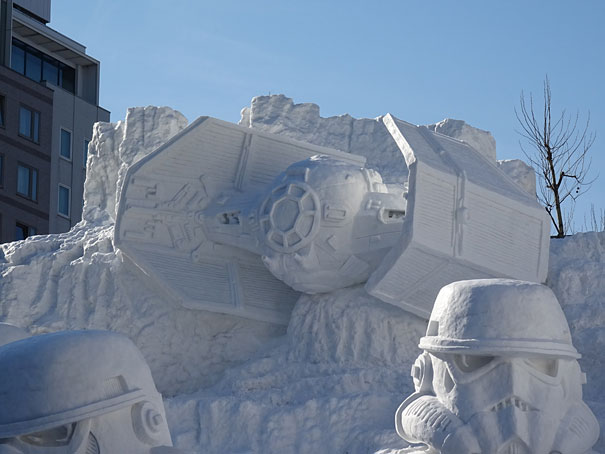 Sculture de neige - Star wars  (2)