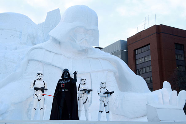 Sculture de neige - Star wars  (3)