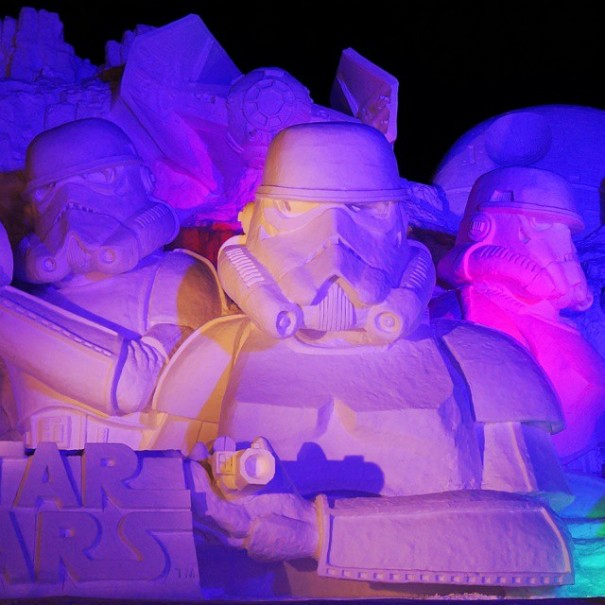 Sculture de neige - Star wars  (6)